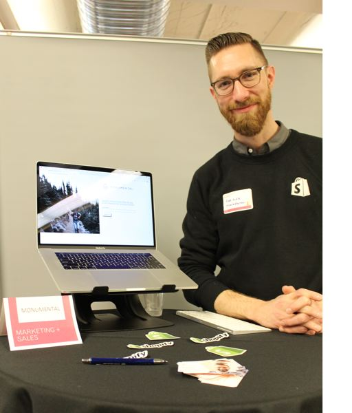 PMG PHOTO: JOSEPH GALLIVAN - Rob Alan's two-man company Monumental helps get retailers set up on the Shopify system.