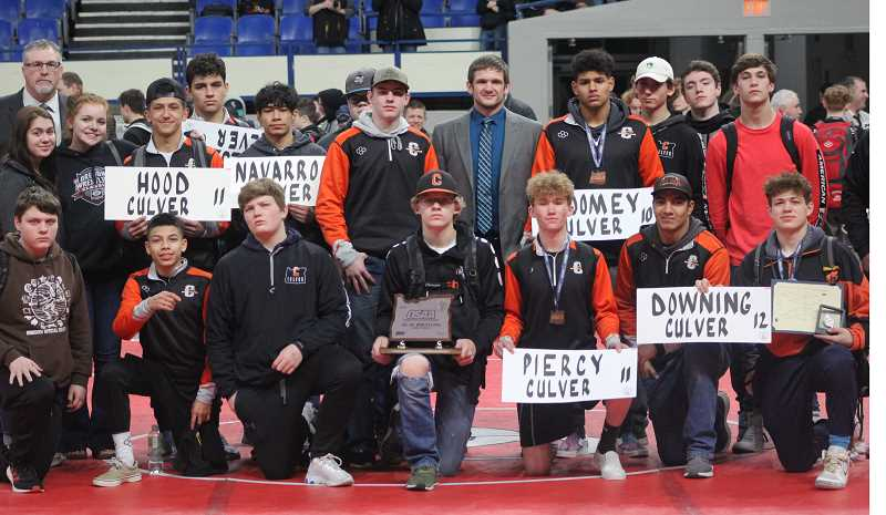STEELE HAUGEN - Culver scored 103 points as a team to place second in 2A at the state tournament in Portland Feb. 27-28.