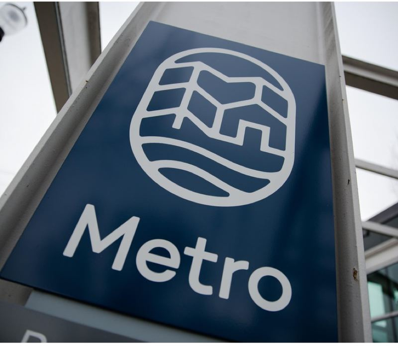 COURTESY OPB - The Metro logo outside the headquarters of the elected regional government.
