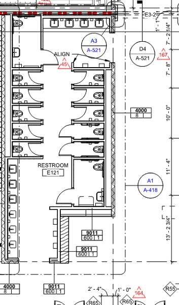 COURTESY PHOTO: LOSD - This map shows the layout of the genderless bathrooms for the new Lakeridge Middle School