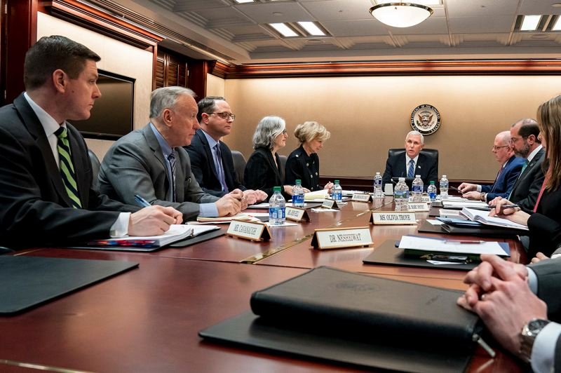 COURTESY PHOTO: WHITE HOUSE - Vice President Mike Pence briefed the nations governors March 2 about the response to COVID-19 by the White House Coronavirus Task Force.