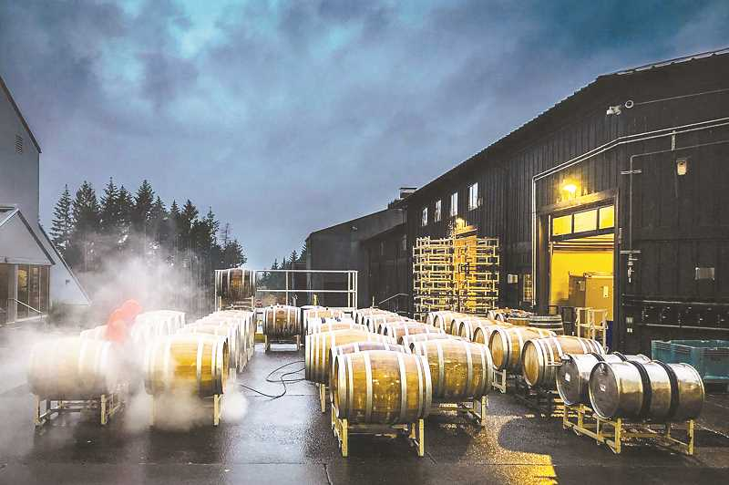 SUBMITTED PHOTO - Adrian Chitty's images of a working winery will be exhibited at the winery and at the Chehalem Cultural Center in November.