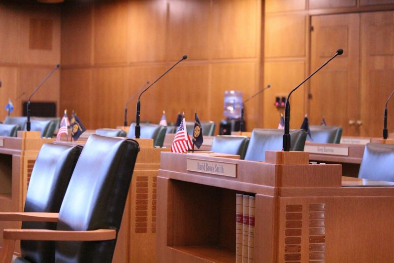 PMG FILE PHOTO - Empty desks have come to symbolize the short 2020 legisltive session as a second Republican walkout left both the House and Senate without enough lawmakers to vote on proposals.