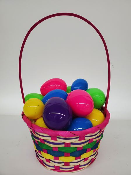 COURTESY: UNITED PACIFIC IMPORTS - Easter baskets like this one were already on ships before the coronavirus outbreak shut down production in and shipping from China. Other consumer goods caught up in the economic squeeze could rise in price as they get scarce in coming months.