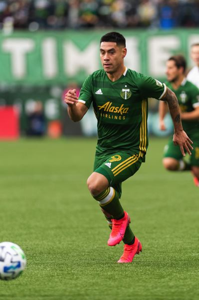 PMG PHOTO: CHRISTOPHER OERTELL - Forward Felipe Mora had some bright moments during his Portland Timbers debut.