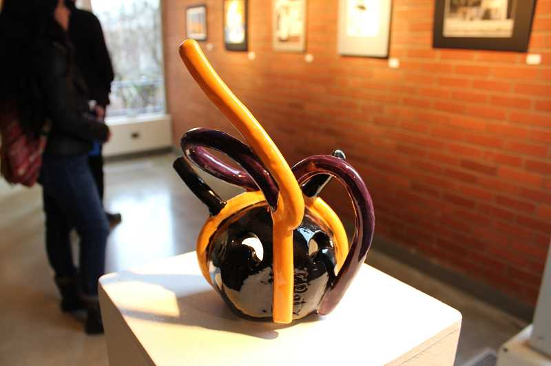 PMG PHOTO: GABBY URENDA - The Regional High School Juried show includes drawings, paintings and ceramic sculptures.