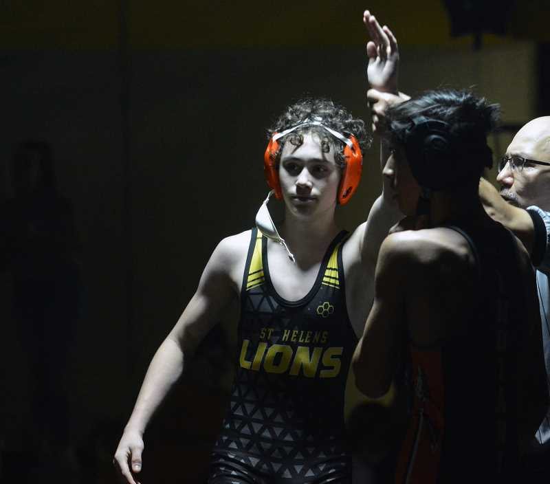 PMG FILE PHOTO - St. Helens sophomore Gavin Schaer won a match at the Class 5A state championship last weekend.