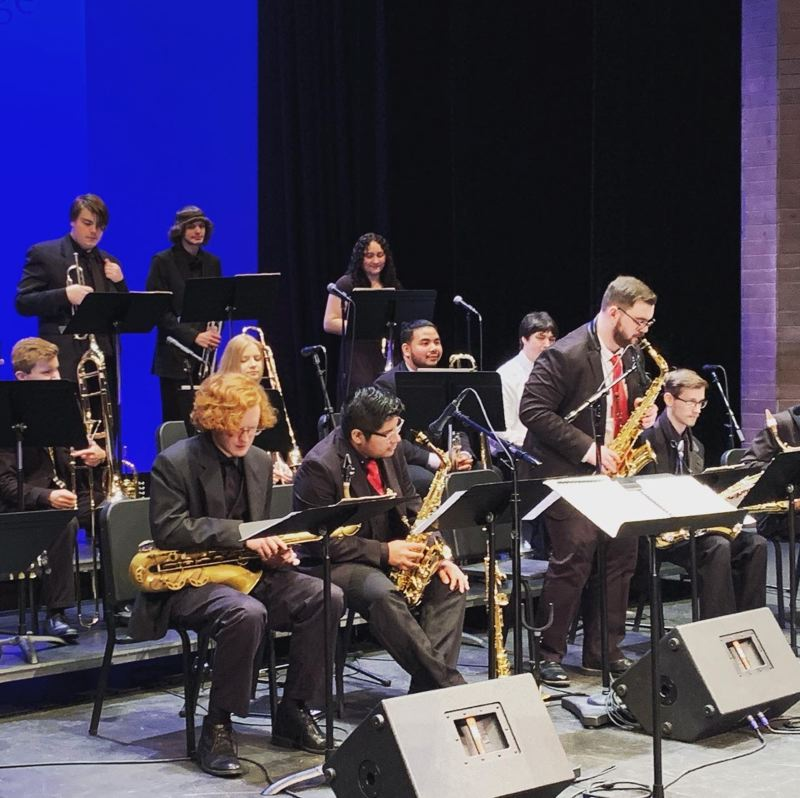 COURTESY PHOTO: MHCC MUSIC DEPARTMENT - The MHCC Big Band is among the actively creative ensembles comprising students taking part in the colleges Jazz Studies program.