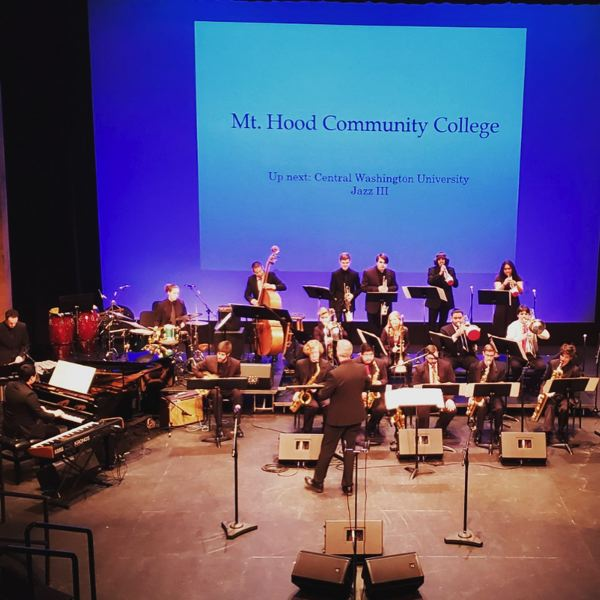 COURTESY PHOTO: MHCC MUSIC DEPARTMENT - The Jazz Studies program at Mt. Hood Community College supports ensembles large and small, from the Big Band, pictured here, to smaller combos performing more modern styles of jazz.