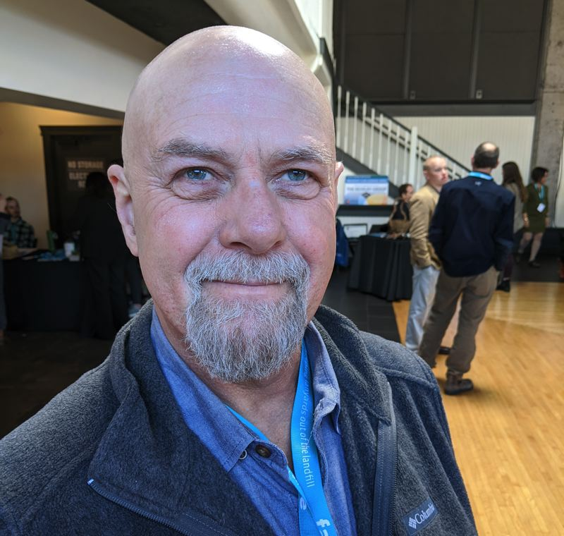 """PMG: JOSEPH GALLIVAN  - Brett Matthews of the group  Lean PDX which promotes Toyota-style lean manufacturing.""""People think of business as hard, cold capitalism. But I don't think it has to be that way.'"""