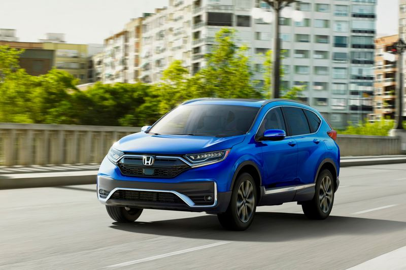 AMERICAN HONDA MOTOR CO. - The 2020 Honda CR-V is the best looking ever, thanks to exterior design changes that keep it modern. It is available with front-wheel-drive or all-wheel-drive, and a first-ever hybrid model is also vailable this year.