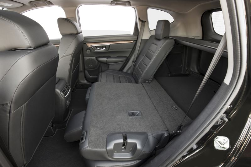 AMERICAN HONDA MOTOR CO. - The rear seats in the 2020 Honda CR-V are surprisingly roomy and can be conifgured for additional cargo space.