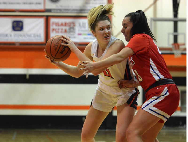 PMG PHOTO: DEREK WILEY - Molalla junior Kaityn Curry averaged 9.9 points, 7.5 rebounds, three assists, 1.5 blocks and two steals per game for the Indians this season.