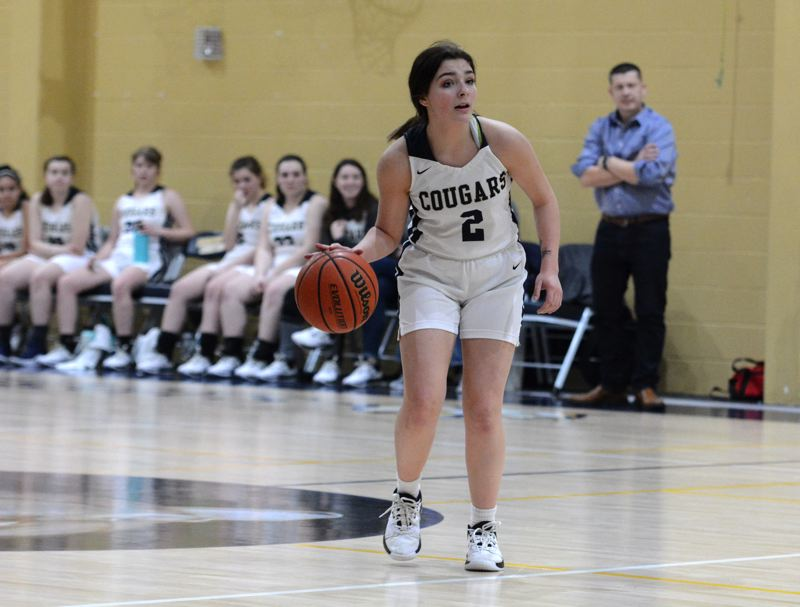 PMG PHOTO: DEREK WILEY - Country Christian sophomore Lanie Barden scored 11 points Thursday against Damascus Christian.