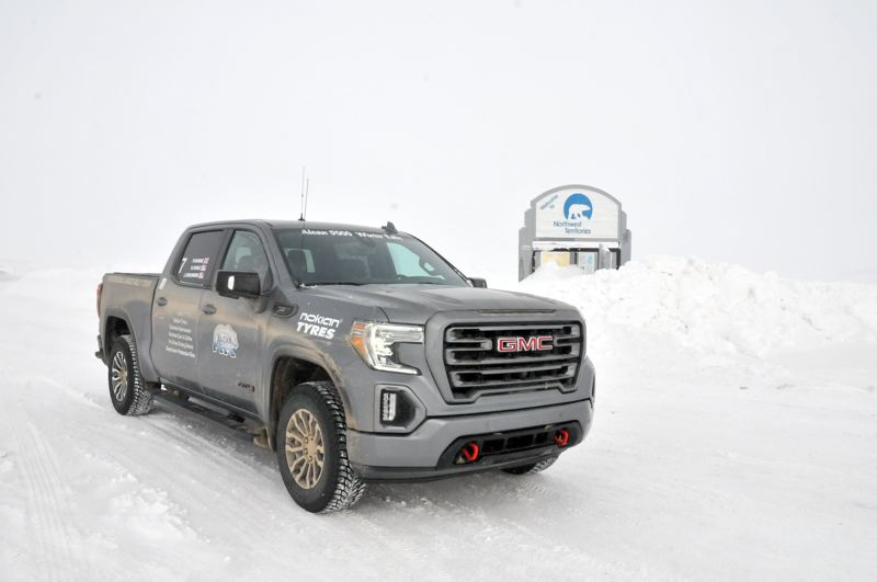 PMG PHOTO: JEFF ZURSCHMEIDE - This 2020 GMC Sierra AT4 was chosen for the Arcan 5000 Winter Rally because it was equipped with GM's new 3.0-liter Duramax turbo-diesel engine which returned an EPA-estimated 26 mies per gallon on the highway, and only a little less in the cold.