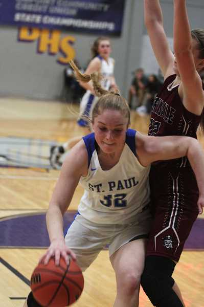 PMG PHOTO: PHIL HAWKINS - St. Paul junior Mary Davidson is slated to lead the returning senior class next year that will seek a fourth straight trip to the state quarterfinals.