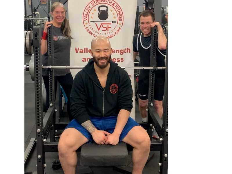 COURTESY PHOTO - Jerri Glanders (left) and Brian Gray (right) have been training with Ryan Achenbach at Valley Strength and Fitness in Clackamas.