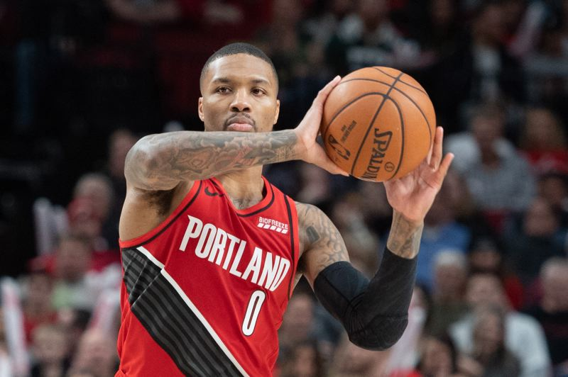 PMG PHOTO: CHRISTOPHER OERTELL - Portland Trail Blazers guard Damian Lillard could eventually be remembered as the greatest ever in the uniform.
