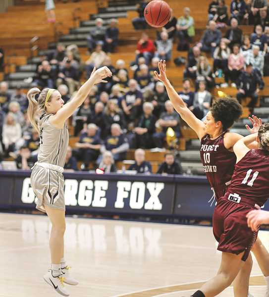 GFU PHOTO - NCAA tournament following a strong end to its regular season in the Northwest Conference, including an upset of then 7th-ranked Whitman in the league championship game to automatically qualify for post-season play.