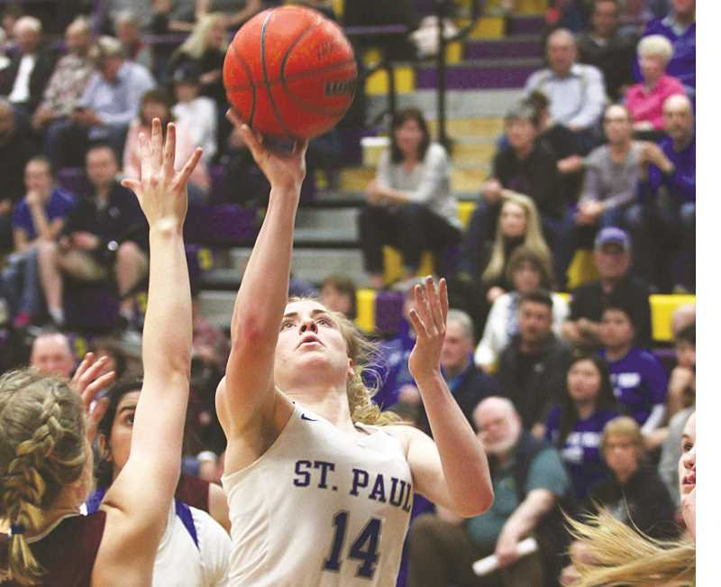 INDEPENDENT PHOTO: PHIL HAWKINS - Senior post Isabelle Wyss earned first team all-state accolades after the Bucks' loss to Crane in Baker City on Saturday.