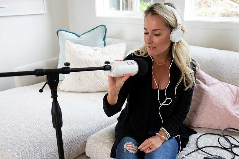 "PMG PHOTO: CLARA HOWELL  - Amber Albin started her own Podcast about a year ago called ""The Really Real Mama."""