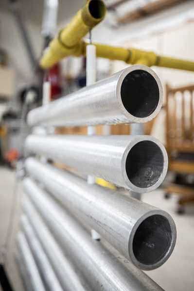 PMG PHOTO: JONATHAN HOUSE - The pipes of the xylophone are usually made from aluminum, pictured here, or stainless steel.