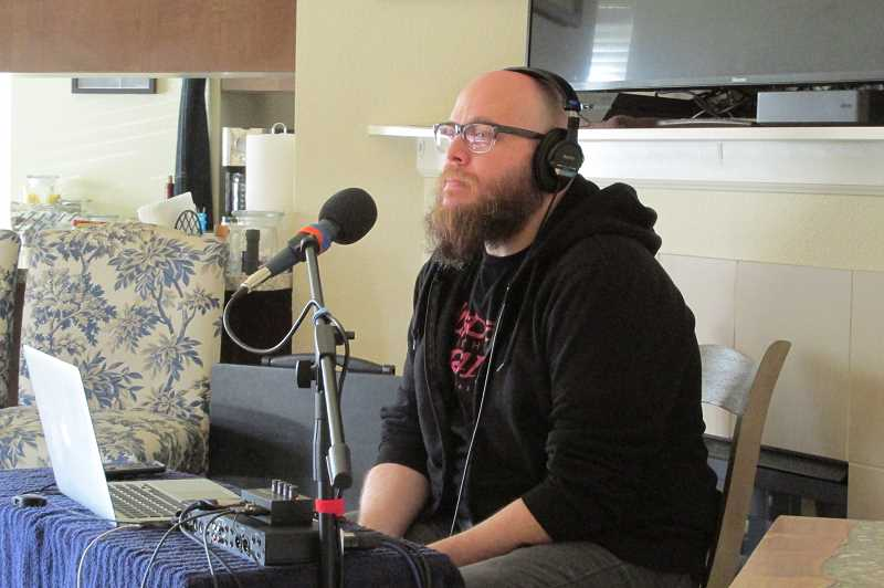 PMG PHOTOS: JASON VONDERSMITH  - Josh McCullough is apart of the the 'Murder in the Rain' podcast crew.