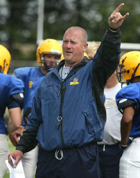 PMG PHOTO: DAVID BALL - Barlow football coach Terry Summerfield stepped down in January after 22 seasons on the Bruins' sideline.