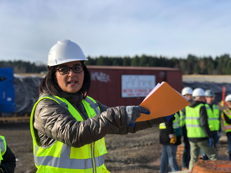 COURTESY: BRIC ARCHITECTURE - Tonie Esteban, an associate principal at BRIC Architecture, in action on a project site.