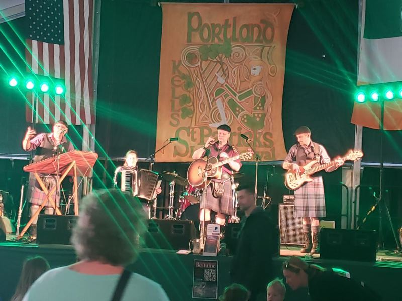 PMG: SHANNON WELLS - Beltaine at the St. Patricks Day party at Kells Irish Pub in downtown Portland in 2017. The 2020 Irish Festival has been scaled back because of the state ban on gatherings of over 250 to contain the spread of Coronavirus.