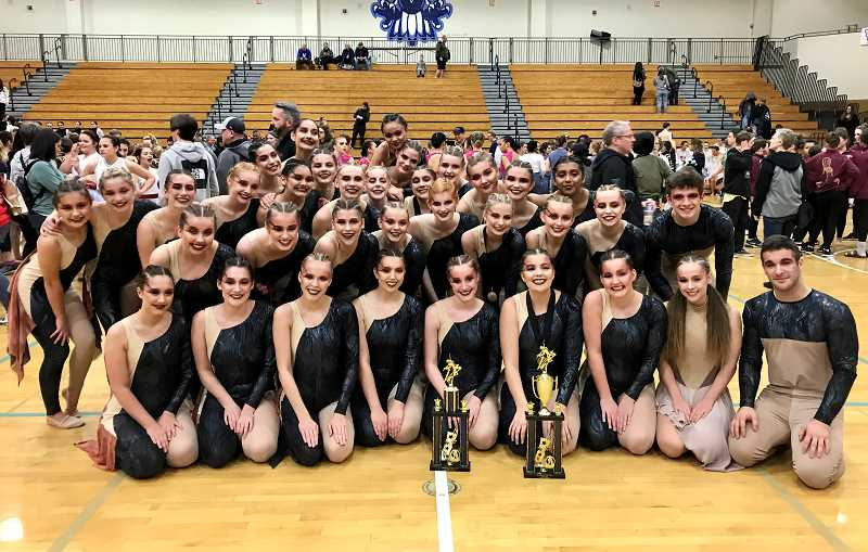 COURTESY PHOTO - Canby earned the top score of the competition (87.53) en route to a first place finish in the show division at Liberty High School on March 7.