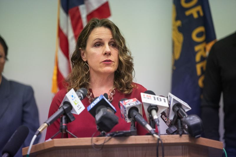 PMG PHOTO: JONATHAN HOUSE - Multnomah County Chair Deborah Kafoury speaks at the COVID-19 press conference.