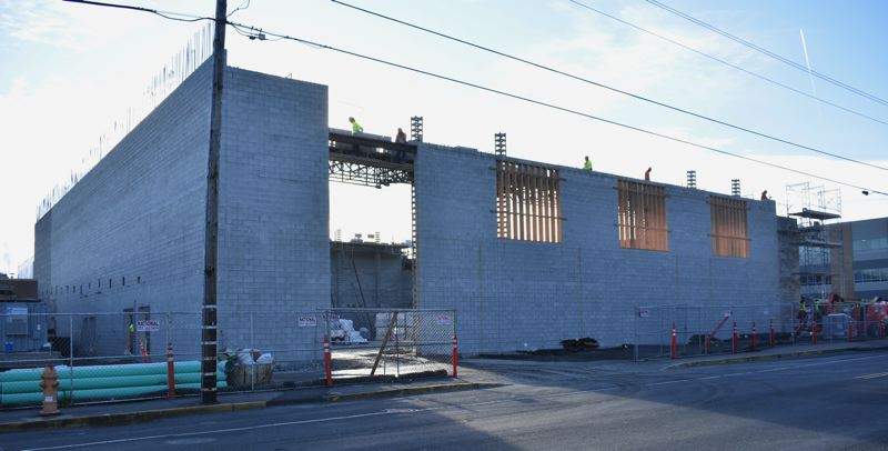 PMG PHOTO: TERESA CARSON - A view of the new gym from Main Avenue.