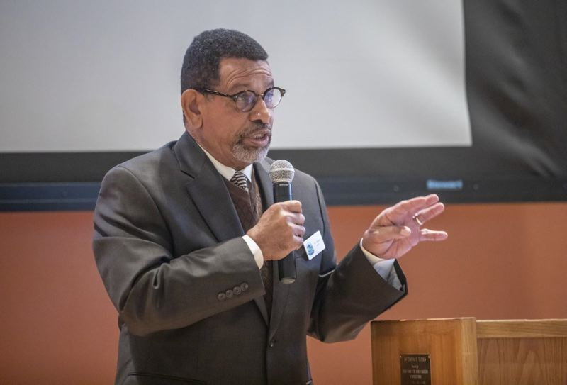 PMG PHOTO: JON HOUSE - King City Mayor Ken Gibson speaks at a January event in Tigard.