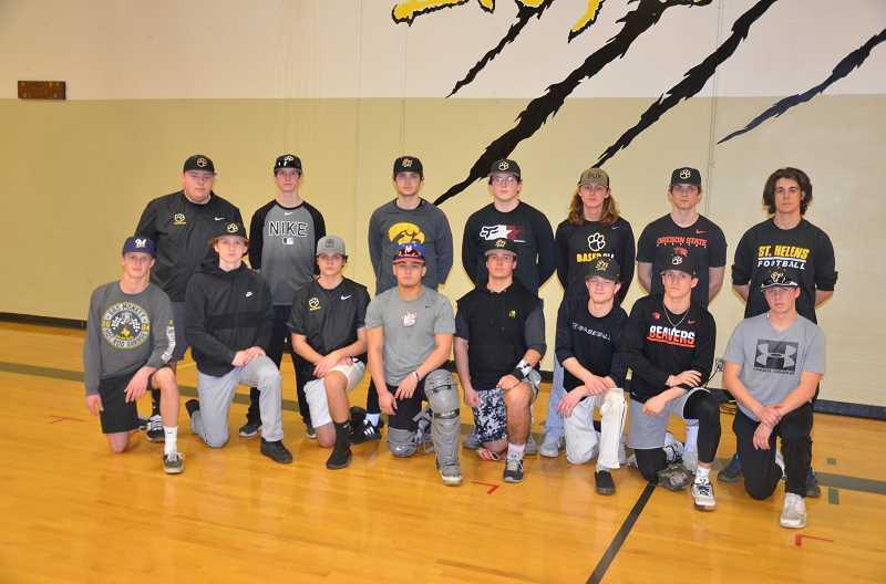 PHOTOS BY JOHN BREWINGTON - The St. Helens boys varsity baseball team.