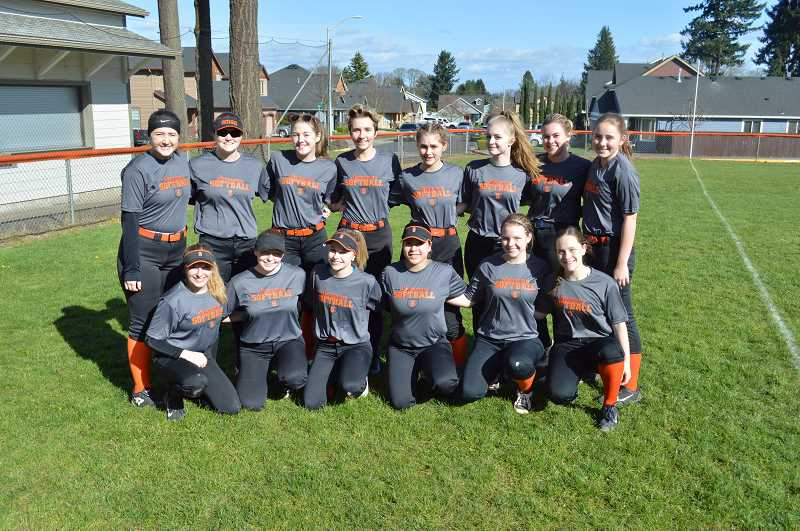 PMG PHOTO: DARRYL SWAN - The 2020 Scappoose High School softball team.