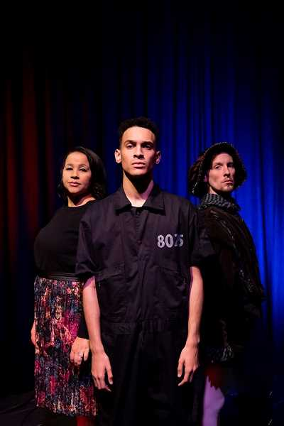 COURTESY PHOTO - Some cast members of The Measure of Innocence are (from left) Anya Pearson, Donovan Mahannah and Phillip J. Berns.