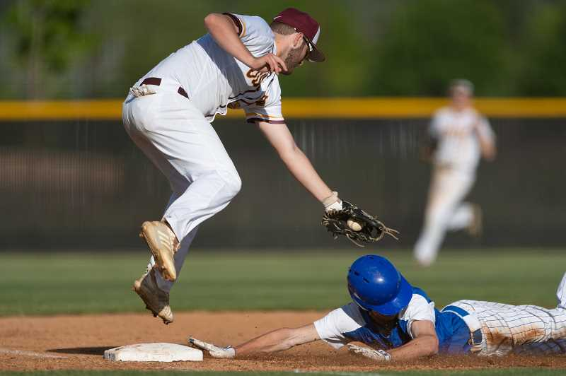 PMG FILE PHOTO: CHRISTOPHER OERTELL - Forest Grove's Spencer Jones (22) during an OSAA baseball game against Newberg in Forest Grove last season.