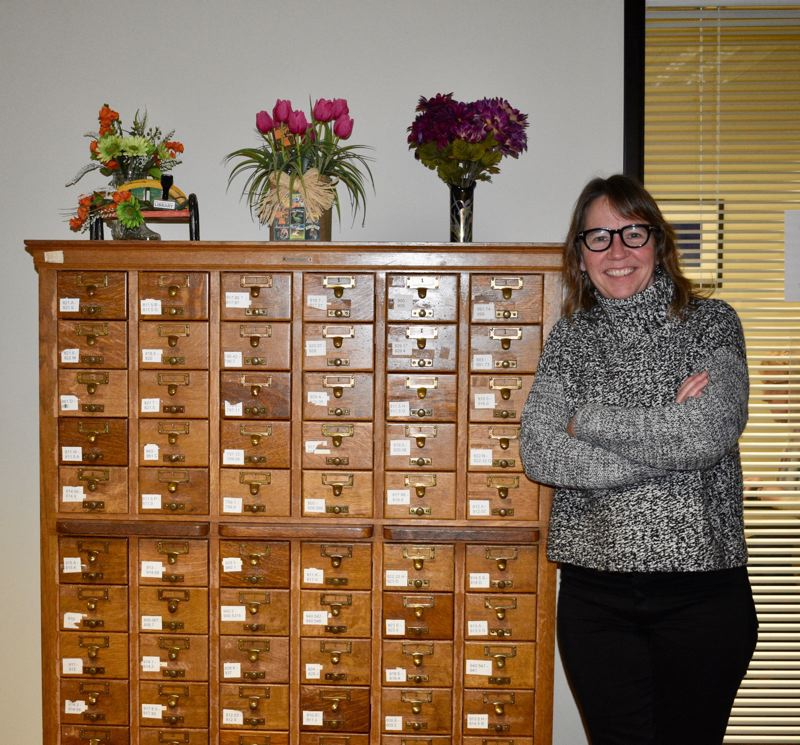 PMG PHOTO: TERESA CARSON - Vailey Oehlke, Multnomah Countys director of libraries, on Friday announced that libraries will close immediately.