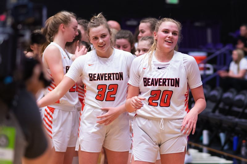 TIMES PHOTO: CHRIS OERTELL - Beaverton seniors Sydney and Laura Erikstrup were two important pillars for the Beavers over the past three years.
