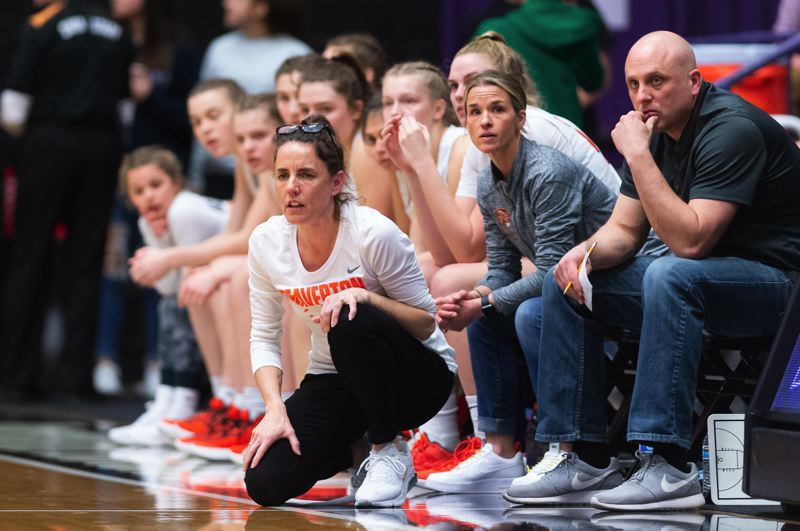 TIMES PHOTO: CHRIS OERTELL - Beaverton head coach Kathy Naro and the Beavers had their Class 6A state title dreams canceled after the OSAA canceled the state tournament.