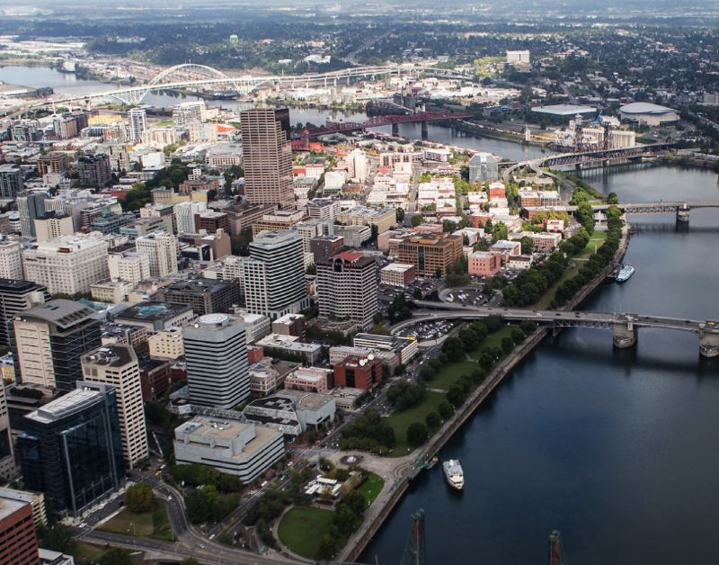 PMG FILE PHOTO - The Willamette River and downtown Portland. A stretch of the river has been deemed a federal superfund cleanup site.