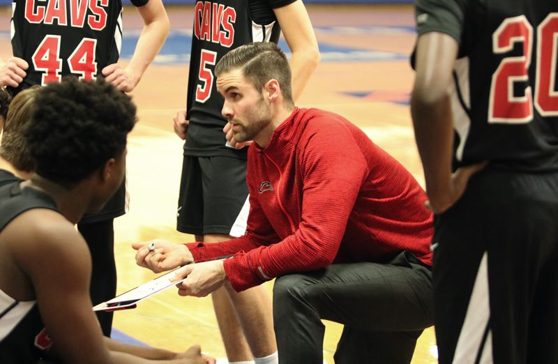 PMG PHOTO: JIM BESEDA - Clackamas coach Cameron Mitchell and the Cavaliers were preparing for to play Central Catholic in Thursday's 6A boys basketball quarterfinals at the Chiles Center when the season was canceled.
