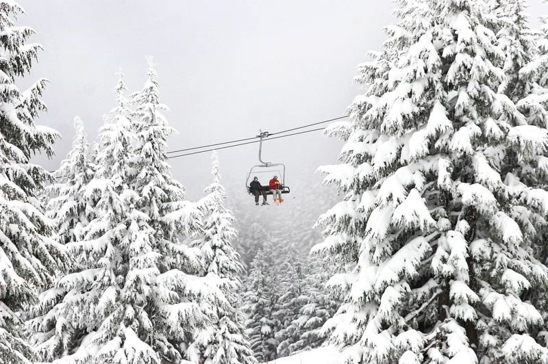 PMG FILE PHOTO - Ski season on Mount Hood came to an abrupt end on Sunday, March 15, as Timberline Lodge announced the closure of their ski runs as well as those at Mt. Hood Meadows.