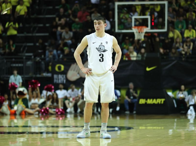 PMG PHOTO: VERN UYETAKE - The NCAA cancels its March Madness tournament, meaning Oregon Ducks guard Payton Pritchard has probably stepped onto a college court for the final time.