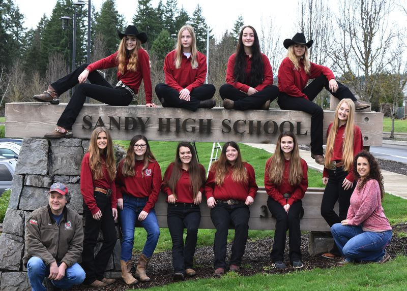 PMG PHOTO: DAVID BALL - Sandys equestrian team beat Estacada by 32 points to win the second league meet of the season earlier this month in West Linn.