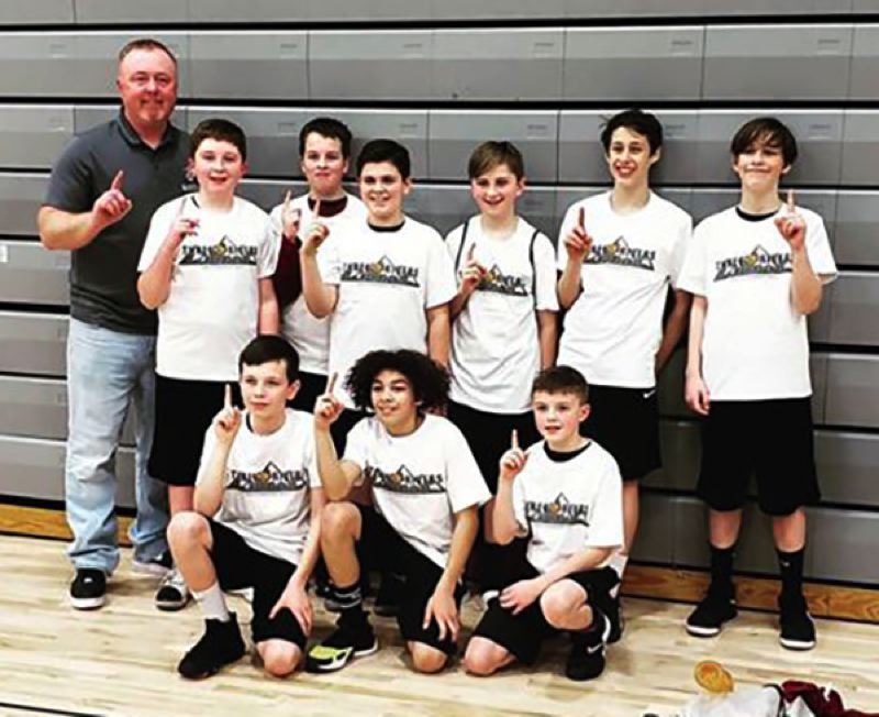 CONTRIBUTED PHOTO - Sandys sixth-grade basketball team won the silver bracket at the Three Rivers League tournament on Sunday, March 8.