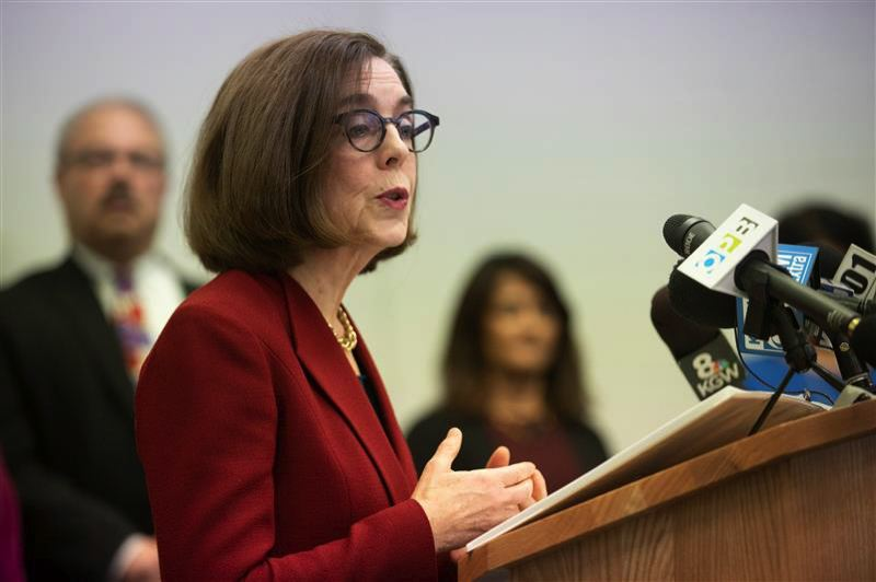 PMG PHOTO: JONATHAN HOUSE - Gov. Kate Brown also has added new prohibitions on gatherings of 25 or more people.