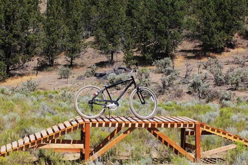 STEELE HAUGEN - The new Madras East Hills Trail System in Madras has many cool features and obstacles such as a bridge.