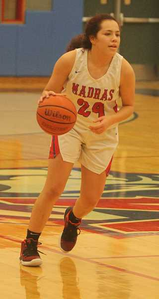 STEELE HAUGEN - Jayden Davis earns first team honors for Madras. She averaged 10.8 points per game, shooting 35.1% from the field. Davis also had a total of 125 rebounds, 61 assists, 94 steals and seven blocks on the year. This was Davis' second first-team honor as a White Buffalo, and the junior still has one more year left.